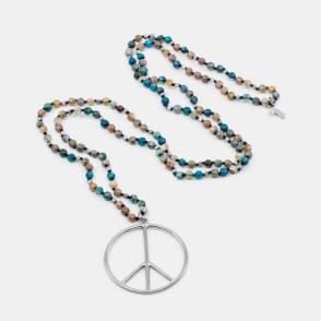 Peace Halsband Turkos Y-YOGA