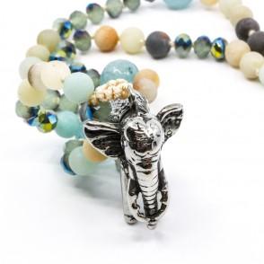 Elephant Halsband Turkos Y-YOGA
