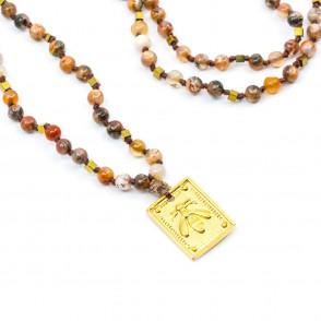 Bee Amulet Halsband Orange Y-YOGA
