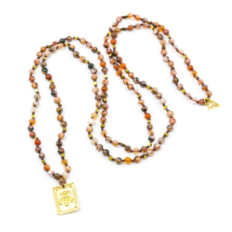 Bee Amulet Halsband Orange Y-YOGA