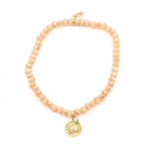 Sun Amulet Armband Peach Y-YOGA