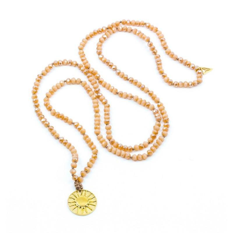 Sun Amulet Halsband Peach Y-YOGA