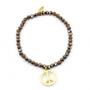 Peace Armband Brun Y-YOGA