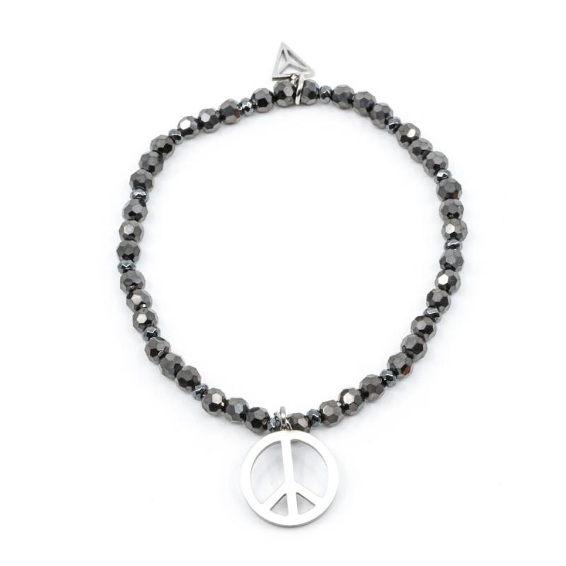 Peace Armband Grå Y-YOGA