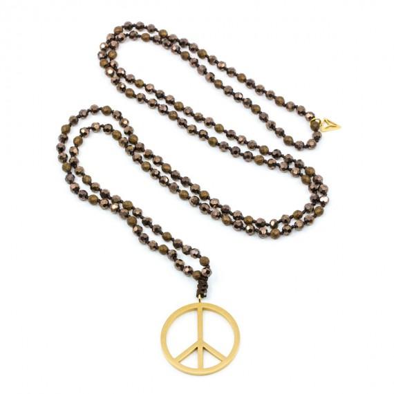 Peace Halsband Brun Y-YOGA