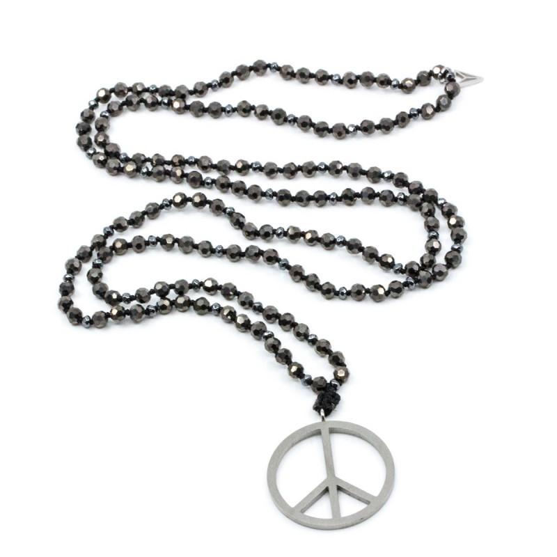 Peace Halsband Grå Y-YOGA