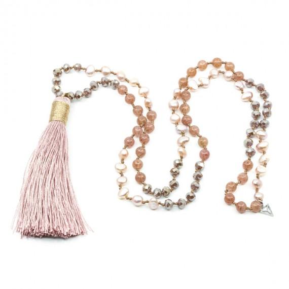 Tassel Halsband Rosa Y-YOGA