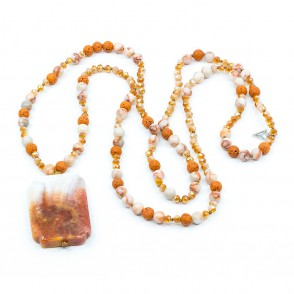 Agat Halsband Orange Y-YOGA