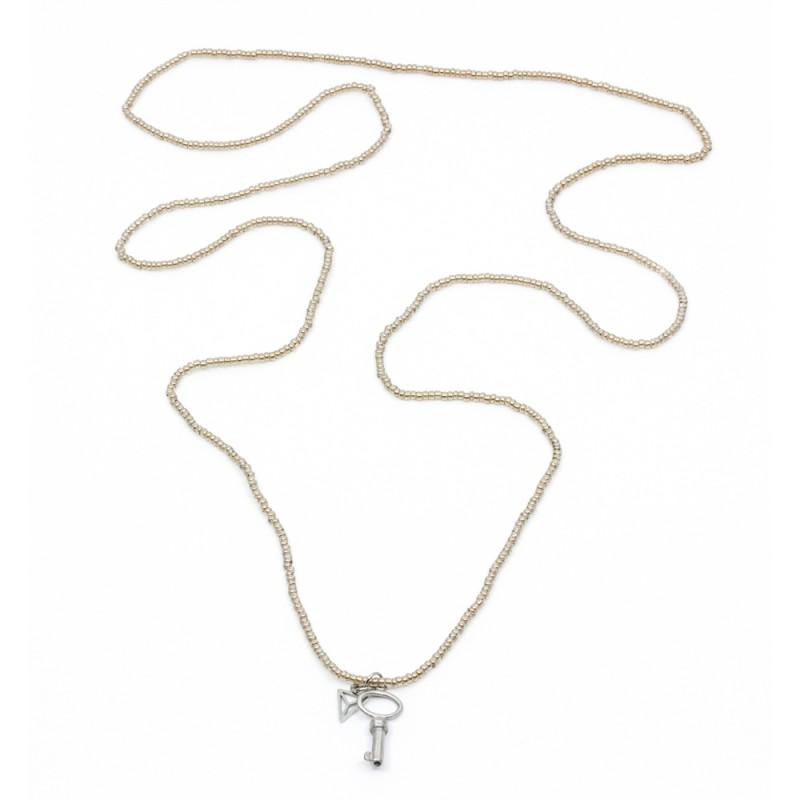 Small Key Halsband Sand