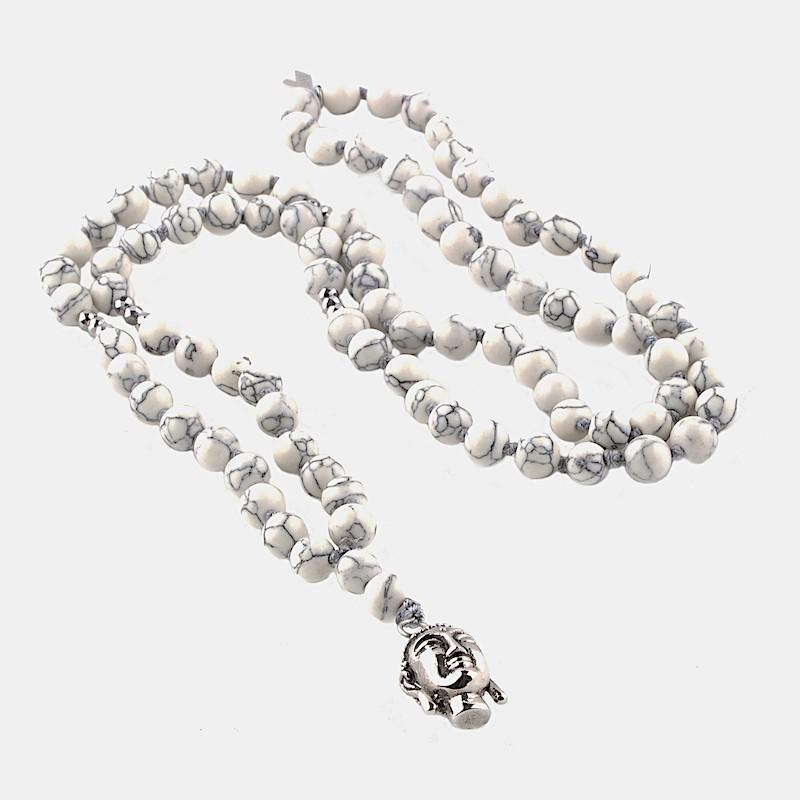 Buddha Halsband Vit