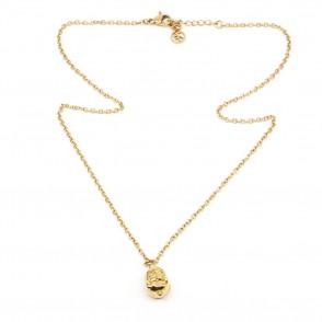 Laughing Buddha Halsband 42cm Guld