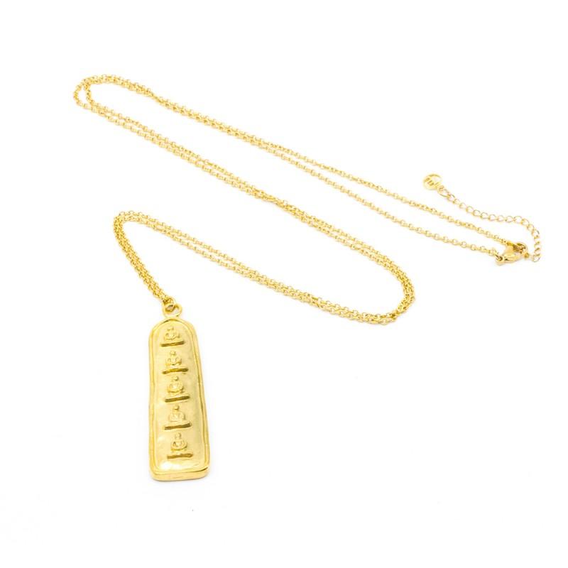 5 Buddha Halsband 90 Guld 7EAST